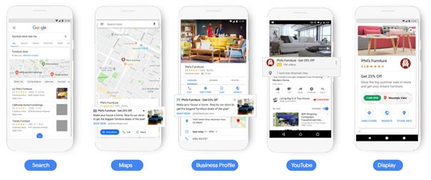 Online ads in Google voor lokale handelaars