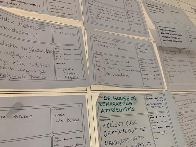 Gevuld Topic Board op MeasureCamp Brussels