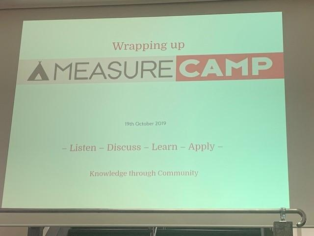 Slide van MeasureCamp
